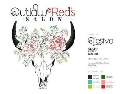 Outlaw Red's Salon Brand Identity design branding typography logo brand identity brand design
