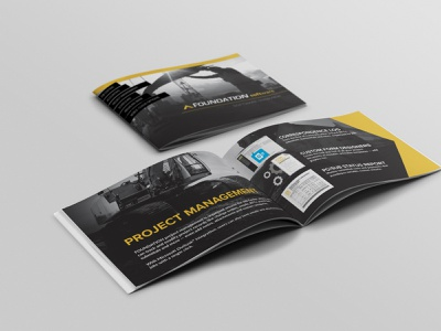 Software Mini Brochure brochure layout brochure design page layout typography brand identity
