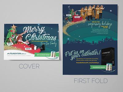Custom Christmas Card page layout marketing christmas card typography brand identity