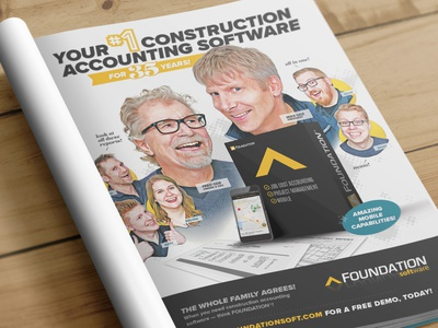 Software Magazine Ad photo illustration illustration marketing brand design typography