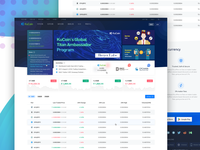 Cryptocurrency Exchange Homepage