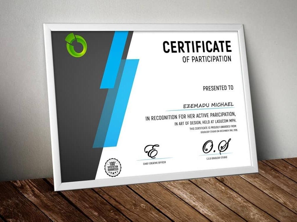 Certificate mock-up certificates ui design photoshop illustrator illustration certificate