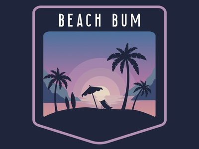 Beach Bum Badge