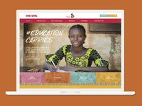 Education Carries Campaign Homepage Design