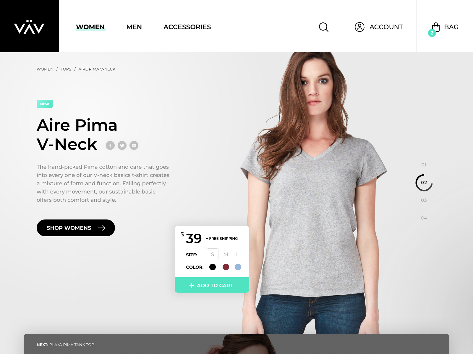 Ecommerce homepage concept rareview