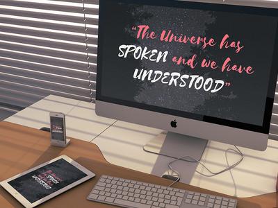 The Universe has Spoken - Wallpaper ipad desktop iphone space universe photo stars quote type inspiration free wallpaper