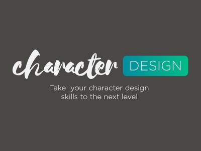 Introducing Character Design animation illustration coming soon title logo online course learning character design
