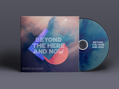 Beyond the here and now - Artwork graphic design cover mockup music album cd