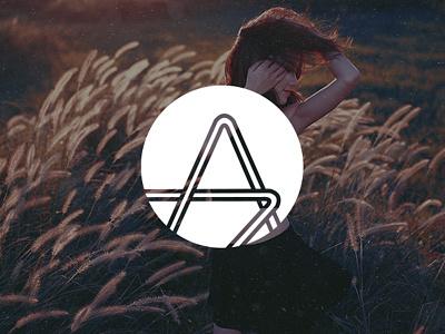 Ascend Arts - Logo white creative arts mark logo brand