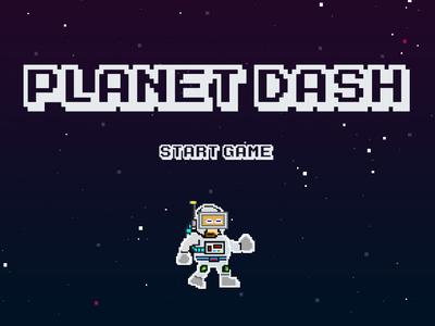 Retro game - start screen