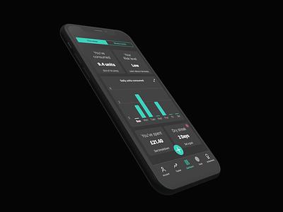Drinks Tracker - Health App ios iphone xs design inspiration mockup product design ui ux health health app app drinks tracker concept