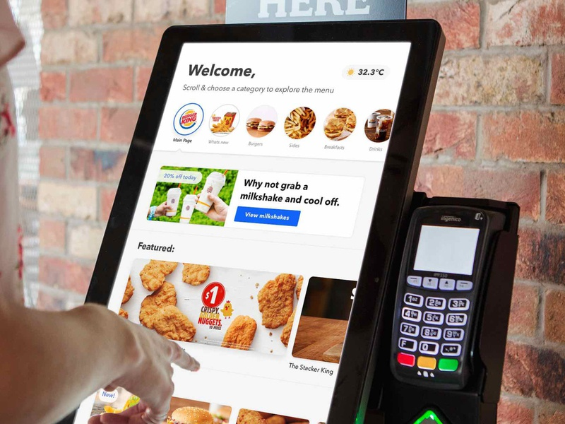 Kiosk food ordering - home redesign restaurant fast food self service redesign kiosk food ordering food ux ui mockup