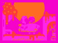 ❤️ Saint-Valentin ❤️ vector rouge illustrator illustration amour love sun soleil rose red valentines day valentine
