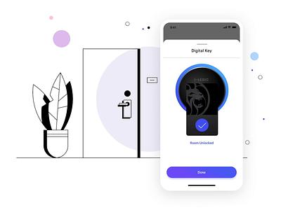 MGM Resorts: Digital Key Animation illustation mobile app design mobile app flutter branding app ui ux animation design