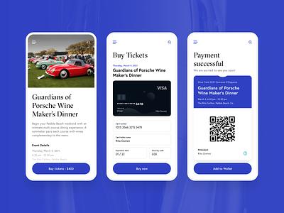 Auto Show concept designs: Part 2 flutter wallet ticket branding cars typography product design mobile app app ui ux design