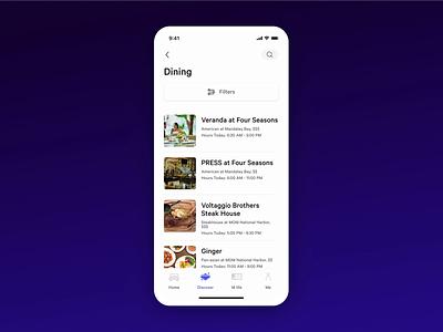 MGM Resorts App: Filter menu filter ui filters branding product design mobile app animation flutter app ux ui design