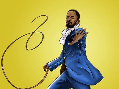 Django Unchained movie illustration unchained django drawing intuos wacom art digital fanart