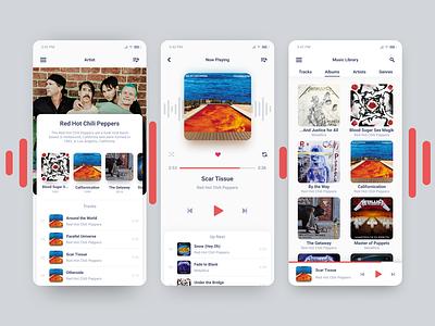 Music Player figma ux semiflat minimal ui design daily ui app player music player music app music
