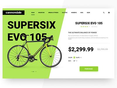 Cannondale Product Page page product identity figma branding web ux semiflat minimal flat ui design daily ui bike cannondale