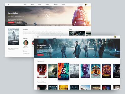Movie App Concept figma web ux semiflat flat ui daily ui concept streaming tv series movie design app tv
