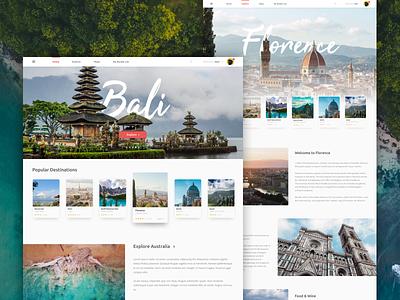 Traveling UI Design travel agency travel app app website uidesign uiux ui design destinations destination hawaii florence bali vacation trips traveling travel