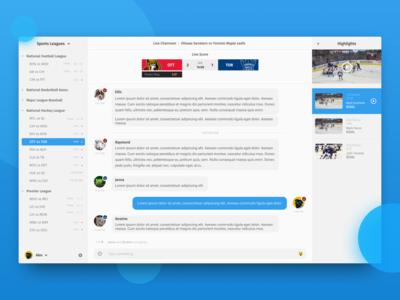 Sports Chat UI