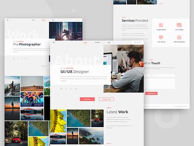 Personal Portfolio Website ui  ux uiux photo app figma concept minimal web ux flat ui design work about website portfolio personal