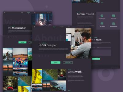 Personal Website UI Dark