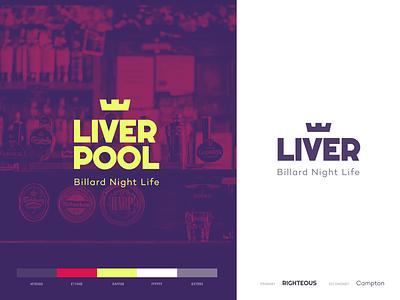 Liverpool Bar - Logo identity bar liverpool type illustration icon typography vector logo branding minimal flat design
