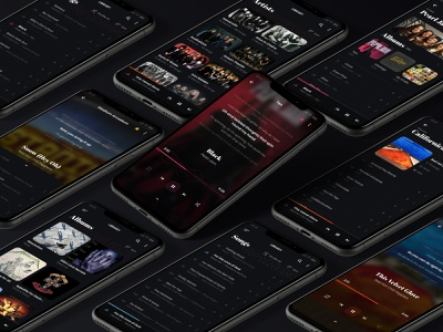 Music Player minimal typography concept figma daily ui ux flat ui mobile design player music