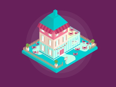 Isometric Coffee Shop building illustraion design isometry isometric vector illustration