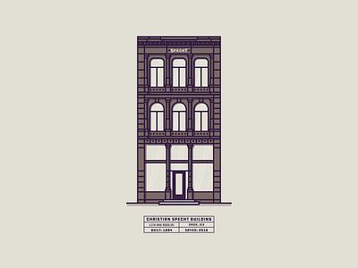 Christian Specht Building history historic omaha nebraska building buildings architechture illustration