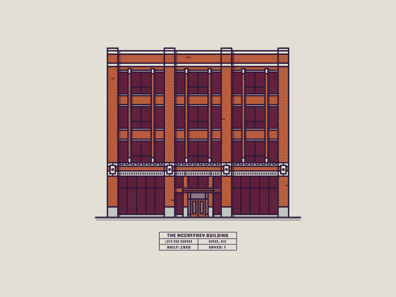 The McCaffrey Building illustration omaha historic buildings building architechture nebraska