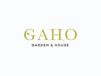Garden & House Logo concept branding design logo