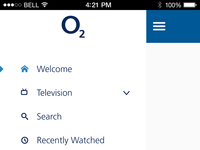 O2 tv screen opennav