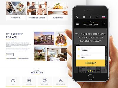Hotel Bratislava hotel ui webdesign