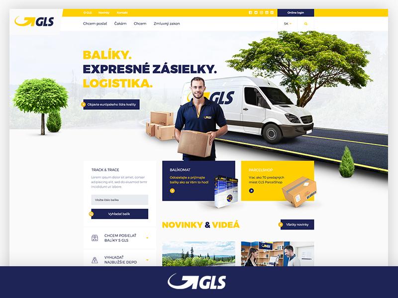 GLS Courier ui webdesign parcel service courier gls