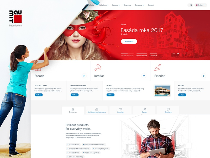 Baumit Concept Design webdesign baumit redesign