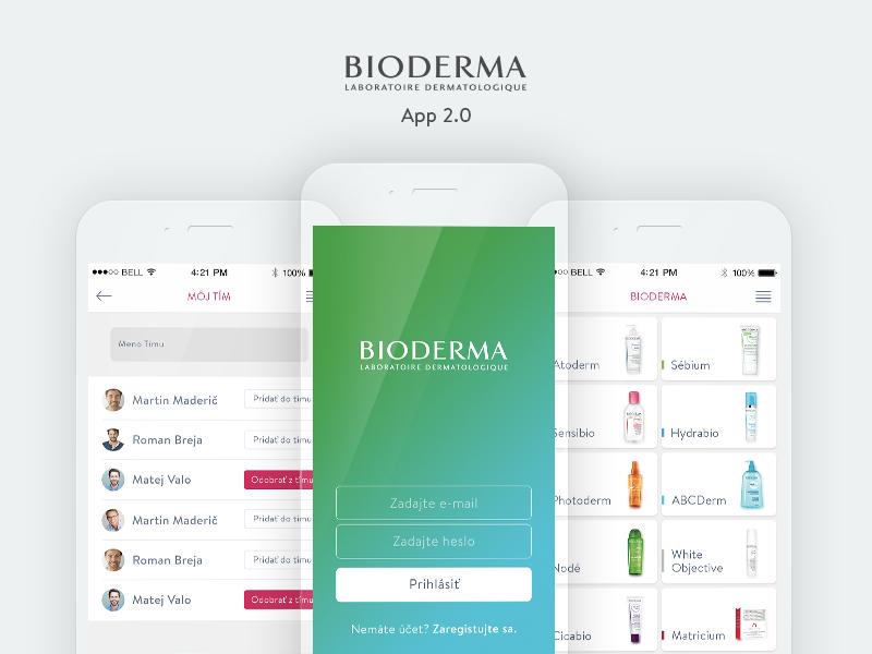 Bioderma App 2.0 ui ux bioderma app