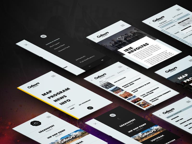 Festival App Concept concept festival app
