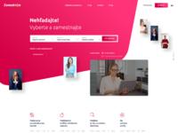 Zamestnam desktop homepage