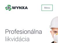Wynxa homepage mobile