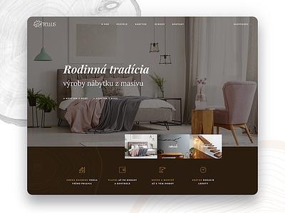Tellus furniture wood webdesign ux ui tellus