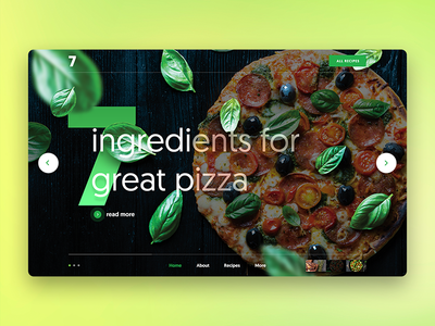 Pizza Hero header webdesign ux ui