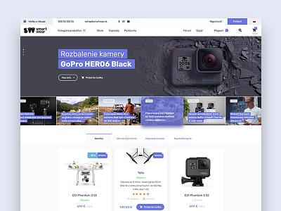 Smartwear drone eshop ecommerce ux ui webdesigm