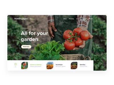 Humin4agro Concept webdesign agro ux ui