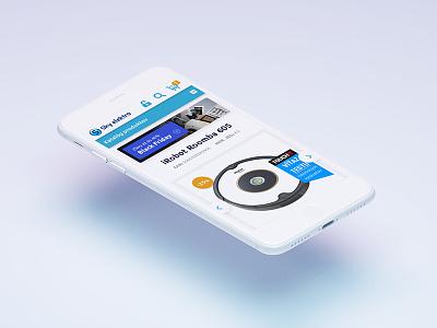 Skyelektro -Mobile version ecommerce webdesign mobile ux ui