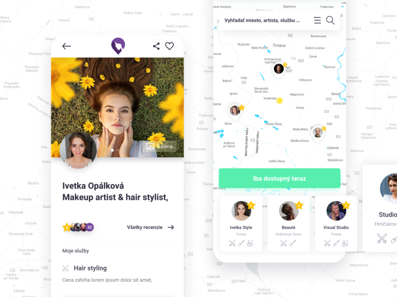 Biutimi App ux ui design search find hairstylist app uiux