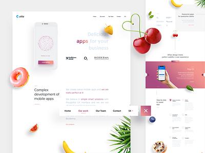 Elite Apps mobileapp landingpage uiux uidesign webdesign sweet ui