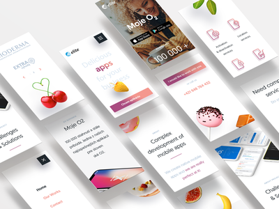Elite Apps -Mobile version mobile design responsive design website design webdesign ui